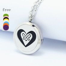 Heart Perfume Locket 25/30mm 316L Stainless Steel Essential Oil Aromatherapy Diffuser Locket Pendant Necklace Best Gift For Mom