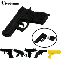 Laser Gun Pen Drive Gun USB Flash Drive 4GB 8GB 16GB 32GB 64GB USB Drive Handgun Thumbdrive USB2.0 Cartoon AK47 Pistol Pendrives(China)