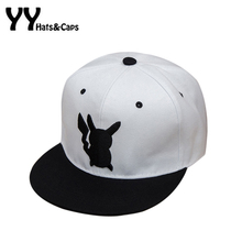 Cute Pocket Monster Snapback Caps Pokemon Go Hat Pikachu Baseball Caps Men Hip Hop Hat Gorra Casquette Pokemon Bone YY60515