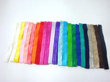 Hot Sale 23colors 1.5cm Shiny Thin Elastic Hair Bands Satin Ribbon Headband  Girls Headwear 60pcs/lot Free Shipping