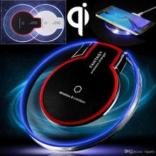 Universal Qi Wireless Charger Crystal Pad with LED Light For Samsung Galaxy S6/S6 Edge/S7 S8 S8 PLUS  for Iphone 6/7 Round Pad