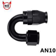 evil energy AN10 Swivel Seal Teflon Hose End 180degree PTFE Fuel Fitting Swivel Hose End 10AN Fuel Adapter For Teflon Fuel Line(China)