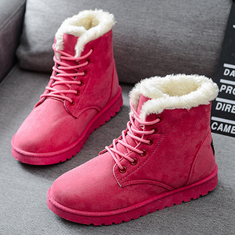 boots shoes woman botas mujer women snow 2017 bota feminina outono inverno chuteira botines casual zapatos boot Lace-Up womens<br><br>Aliexpress