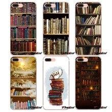 Retro Book Shelf Bookshelf Library TPU Case For Xiaomi Redmi 4 3 3S Pro Mi3 Mi4