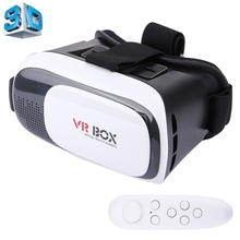 "Google cardboard HeadMount VR BOX 2.0 Version VR Virtual 3D Glasses + Remote Controller for 3.5""-6.0"" Smart Phone(China)"