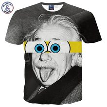 Mr.1991INC&Miss.GO New style designed Einstein t-shirt men short sleeve funny 3d t shirt summer tops tees men clothing G1099