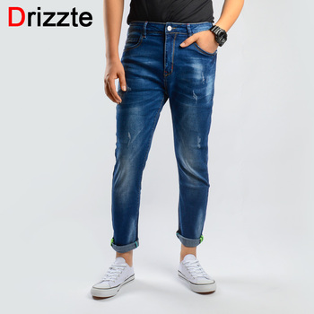 Drizzte Brand Spring Summer Ankle Jeans Men Denim Slim Fit Jeans for Men Comfortable Jeans Trousers Pants for Men