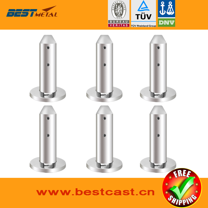 Mirror Polish 6 Pieces/Lot Duplex 2205 stainless steel barkets glass pool fencing spigot for swimming pool balustrade handrail<br>