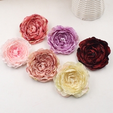 2pcs 9cm high quality artificial flower real touch silk peony flower head simulation DIY wedding family party decoration clip
