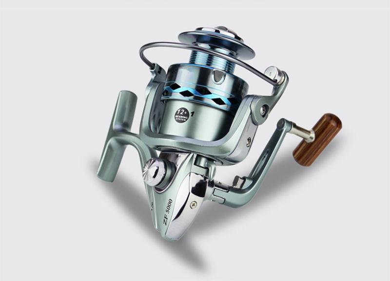 High Strength Aluminium Alloy Metal Head & Arm Spinning Fishing Reel 12+1BB Gapless Fishing Spinning Wheel Sea Fishing Tackle (11)