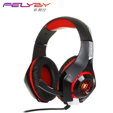2017New Game Headset PS4 PSP PC Headset Tablet PC Laptop Microphone, 3.5mm Headband Light Cool Headphone and Adapter Cable(China)