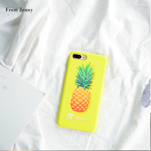From Jenny Yellow PC Pineapple Plastic Hard Case For iphone6 6s/6plus 6splus 7 7Plus back covers Casing