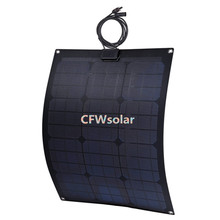 photovoltaic cells price for semi flexible solar panel 30W with PCB plate, suit for 12V battery,marine solar panel