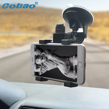 Cobao Universal Windshield Car Mobile Phone Holder Stand Dashboard 360 Adjustable Car Cellphone Holder Stand for Xiaomi iPhone