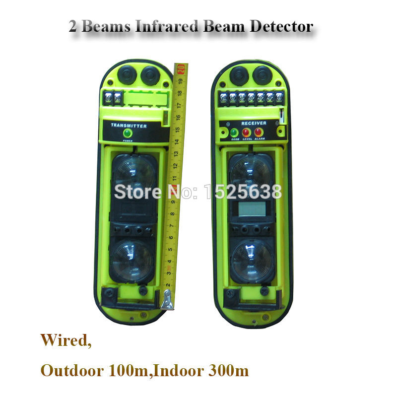 100 Meter Human Infrared Sensor Wired Beam Detector Alarms photoelectric Home Security<br>