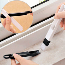 2 in 1 multi-function window slot brush with dustpan screen keyboard drawer wardrobe corner gap Dust removal cleaning brush(China)