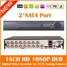 Dvr H.264 Performance 2 Sata Port Hd Surveillance Ccvt Hdmi Vga Digital Video Recorder For Cmos Or Ccd Camera Freeshipping