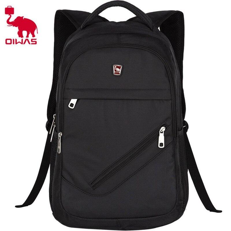 Oiwas Multifunctional Solid Color Men Women Laptop Backpack Business Style Travel Bag School Shoulder Bag<br>