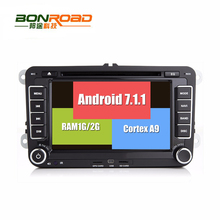 Android 7.1.1 RK3188 2Din Car DVD For VW GOLF 5 Polo CC PASSAT TiguanQuad Core Cortex A9 BT Radio  FM 3G 4G WIFI  2G RAM 16G ROM