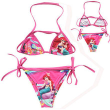 Cute Kids Girls Swimwear Baby Girls Swimsuit Mermaid Fancy Children Girls Bikini Set Age 2-10Y
