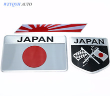 Car Styling Japanese Flag Emblem Badge Car Sticker Decals Accessories For Toyoto Honda Nissan Mazda Lexus Mitsubishi Car-Styling