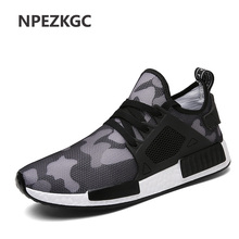 NPEZKGC Breathable Men Casual Shoes Men's shoes Trainers Flat Walking Shoes Sport Camouflage Zapatillas Hombre Light Soft shoe(China)