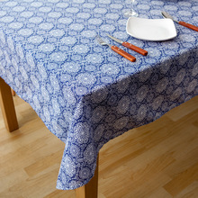 USPIRIT Products Chinese Style Table Cloth Retro Party Nappes De Table Blue Floral Printed Elegant tablecloths HH2208