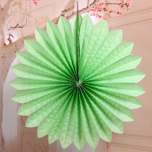 Decoration Wedding Creative Foldable Tissue Paper Fan 3pcs/Lot 15cm Wedding Flowers Bouquets Paper Party Decoration Supplies