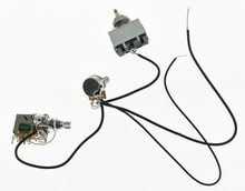 High quality Prewired Wiring Harness 1V1T Push Pull Tone 500K Mini Pots & 3 Way Toggle Switch
