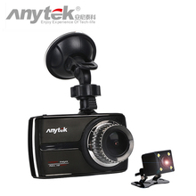 Original Anytek G66 Touch Screen Dual Lens Car DVR NTK96655 Night Vision Car Camera Full 1080P WDR Packing Monitor Car Dash Cam