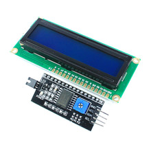 Module For Arduino 1602 Blue Backlight LCD Display 16x2 HD44780 Character LCD IIC I2C W/Serial Interface Adapter Board UNO Nano