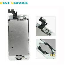 For iPhone 5 5G LCD Display + Touch Screen Digitizer +Frame+Menu Button+Front Camera +Tool Free Shipping