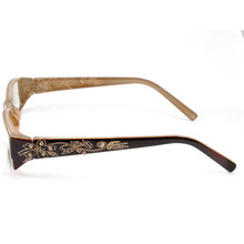 Women Men Resin Lens Retro Carved Full Frame Reading Glasses 1.0 1.5 Brown Magnifying Presbyopia 2.0 2.5 003