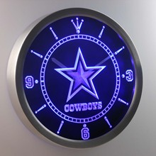 nc0503 Dallas Cowboys Neon Sign LED Wall Clock