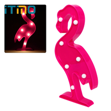 ITimo Romantic Novelty Lighting 3D LED Home Bulb Flamingo Cactus Penguin Table Bedroom Wall Lamp Night Light Light Decoration(China)