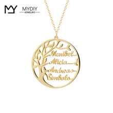 Necklace Jewelry Christmas-Gift Customized 925-Sterling-Silver Gold-Color Family Statement