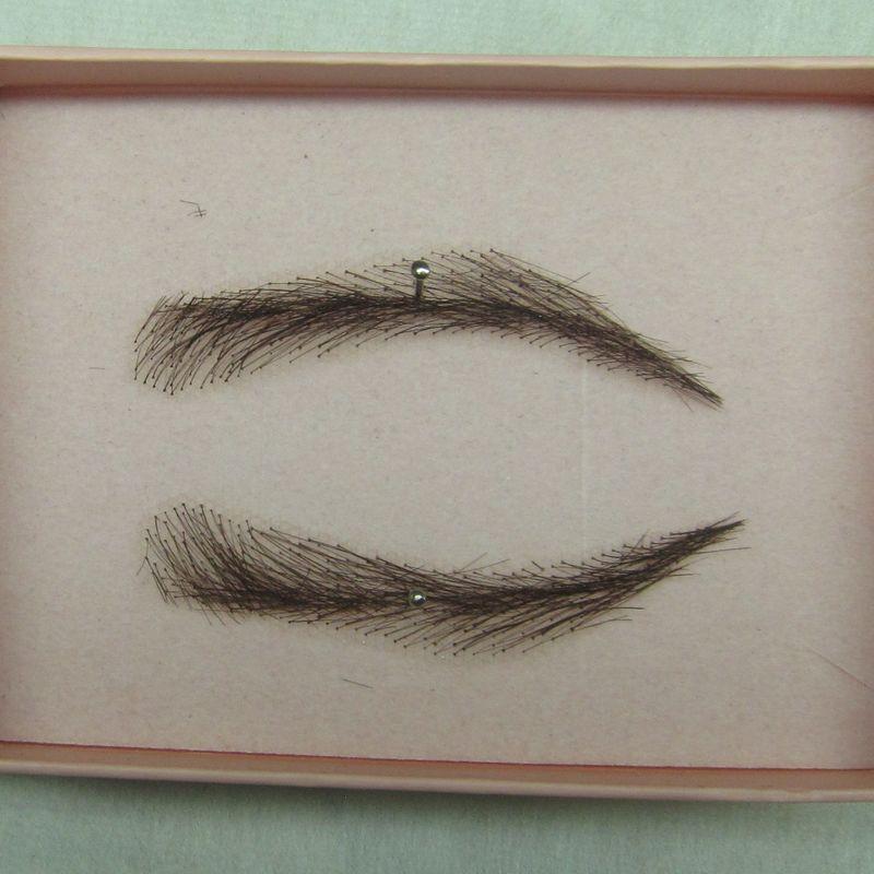 Aliexpress Buy 0112 Handmade Human Hair Man False Eyebrows