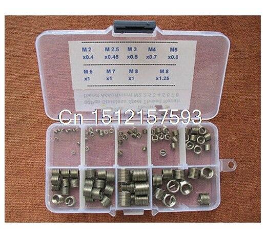90Pcs Stainless Steel Thread Repair Insert Assortment Kit M2 2.5 3 4 5 6 7 8<br>