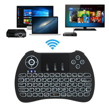 Mini Wireless Backlit Keyboard 2.4 GHz USB Touchpad Keyboard For PC Pad Xbox 360 PS3 Google Android TV Box HTPC IPTV EM88