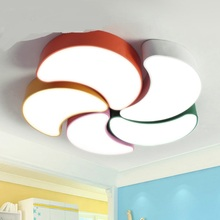 1pc Children toy modern creative flower LED ceiling light combination living room bedroom restaurant nursery store moon ET93
