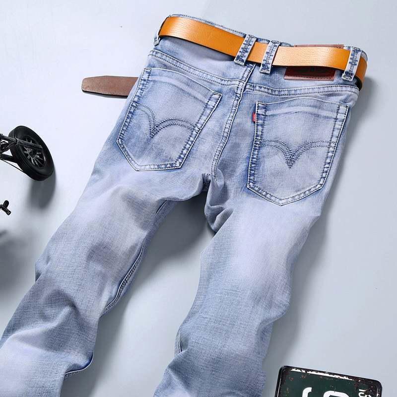 New Fashion 2017 famous brand men jeans Summer jeans light color slim jeans pants trousers male long jeans for men Y331Одежда и ак�е��уары<br><br><br>Aliexpress