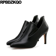 Black Thin Size 33 3 Inch Ankle Boots Ladies Pumps Modern 12 44 Crossdresser Medium Casual Shoes Women 10 42 Big 4 34 Pointed(China)