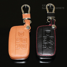 High quality new design style leather car key cover case for Land Rover a9 range rover freelander Evoque discovery keychain HOT