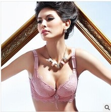 Free shipping The new 2014 gather together gather bra Vice milk underwear lace embroidery side