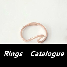 All Rings Jewelry Catalogue Stainless Steel Sea Wave Ring For Women Men Anel Adjustable Vintage Rose Gold Silver Wedding Ring