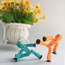 10pc/set Hight Quality Stikbot Sucker Suction Cup Deformable Sticky Creative Move Body Robot Action Figure Toys Low Price Gifts