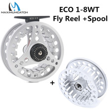 Maximumcatch ECO 1/2/3/4/5/6/7/8WT Fly Reel Large Arbor Aluminum Fly Fishing Reel with Reel Bag and Extra Spool(China)