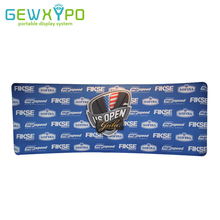 20ft*8ft Curve Shape Easy Fabric Aluminum Tube Display Banner Stand With Printing,Exhibition Booth Portable Advertising Backwall(China)