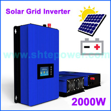 2000W 1000W Battery Discharge Power Mode/MPPT Solar Grid Tie Inverter with LCD dispaly DC 45-90V AC 220V 230V 240V PV connected(China)