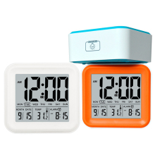 Digital Alarm Clock touch Night Light Time Christmas Halloween birthday gift Backlight LUMINOVA modern Temperature Display Clock